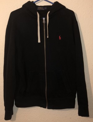 Black Ralph Lauren men's classic polo hoodie