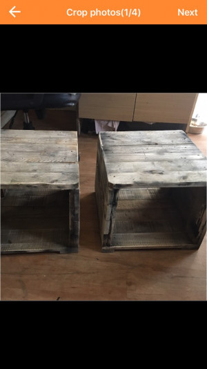 Two Rustic Reclaimed Wooden table tops no legs