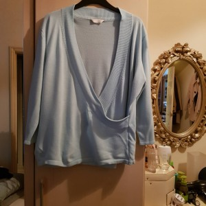 For Women Baby Blue Cross Over Sweater Size 22