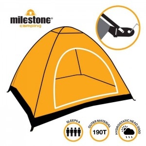 The Milestone 2 Man Festival Dome Tent With UV50+ Protection is quick
