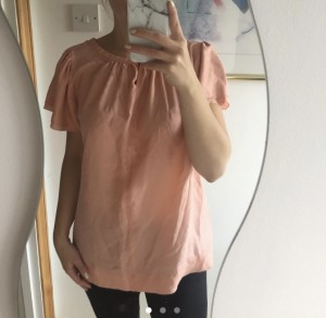 Part two salmon coloured women's top