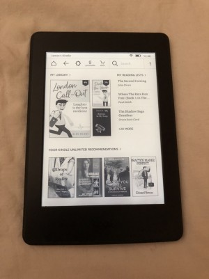 Kindle Paperwhite. Latest version with no ads.