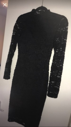 Black lace dress size 10