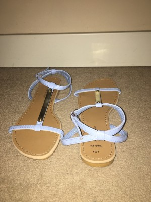Newlook Lilac and Metal Sandals
