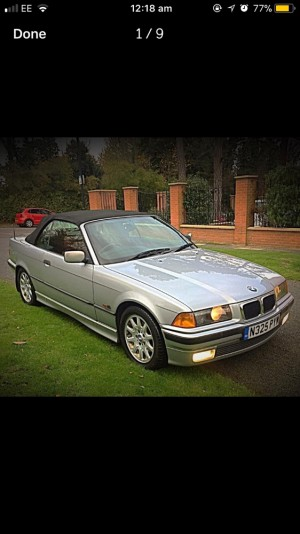 BMW E36 3 SERIES 328 CONVERTIBLE LOW MILEAGE