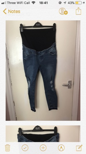 New Look Maternity over the bump jeans size 10