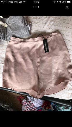 river island high waisted shorts size 16