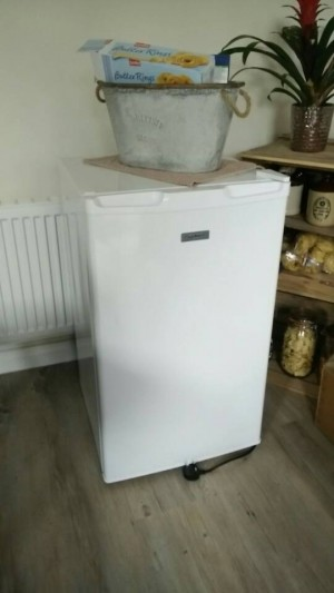 brand new fridge out of the box