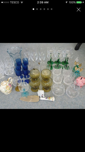 Job lot of glass and china