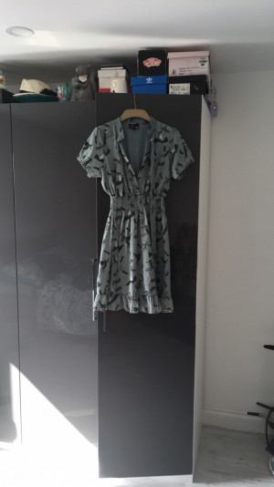 Bird patterned dress