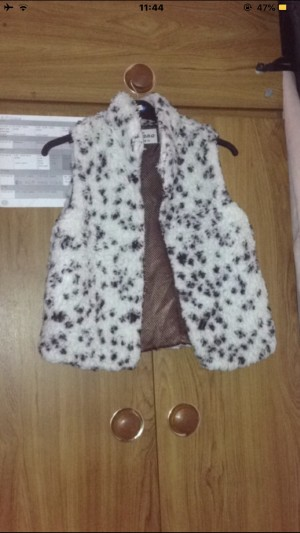Spotty Sleeveless Jacket. Size 10