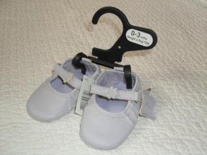 Purple leather baby shoes