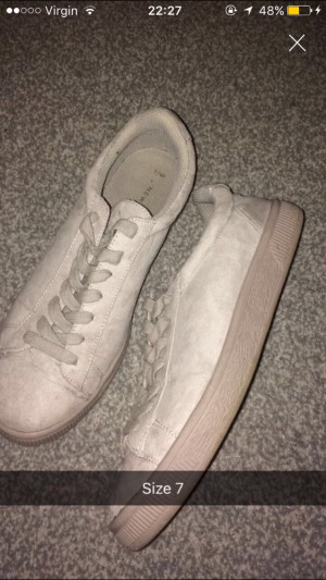 New Look suede trainers Size 7, Hardly worn