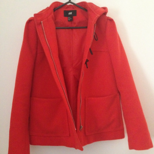 Red winter coat/A line