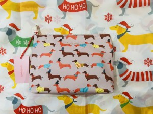 Sausage dog wash bag