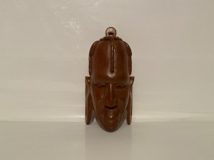 Vintage Wooden Sculpture Hand Carved African Tribal Face Figure Head