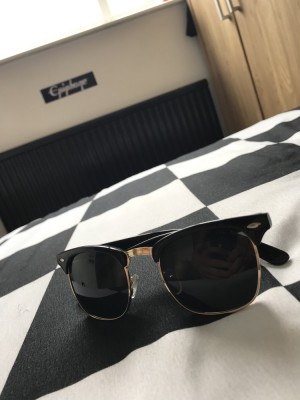 Zero UV Sunglasses (Black and Gold)