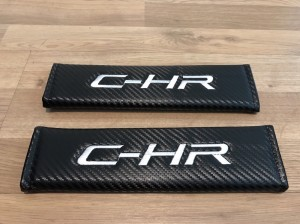 2X Seat Belt Pads Carbon Gifts Toyota Yaris Auris Rav4 Icon Dynamic IQ