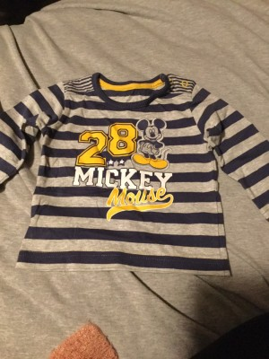 Baby Boys Long Sleeved Striped Disney Top - Aged 0-3 Months