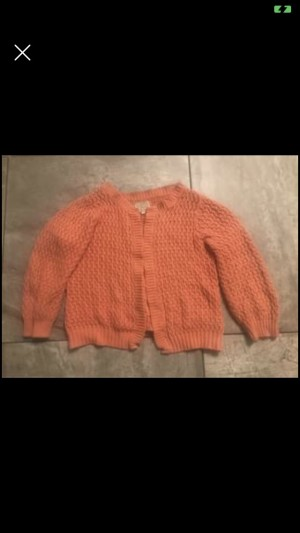 Chunky Knit Cardigan in Pink Warm from New Look in Size 14