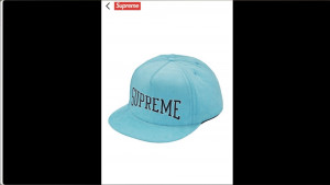 Supreme Dotted Arc 5-Panel in light blue. Never worn.