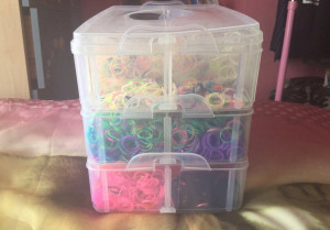 Loombands all colours+Box and purple maker