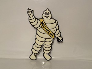Michelin Man Plaque Sign Car Tyres Iron Cast Mascot Gifts Garage