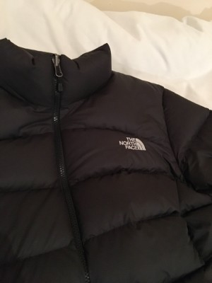 black The North Face 700 puffa jacket