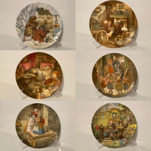Vintage Porcelain Decorative Plate Wind In The Willows Collection