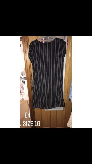 Ladies Black And White Striped dress