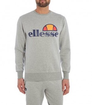Grey Crew Neck men's Ellesse Jumper