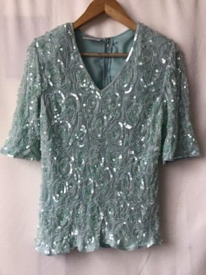 Gorgeous Vintage Frank Usher Embroidered Top