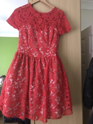 Red skater dress size 12 worn once £50
