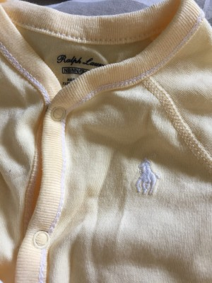 Baby Ralph Lauren baby grow and bib