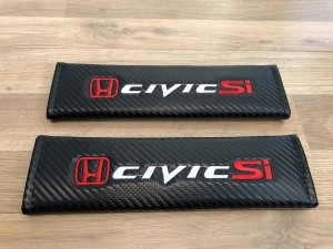 2X Seat Belt Pads Gifts Carbon Honda Civic SI SIR Coupe FG4 Sport Inje