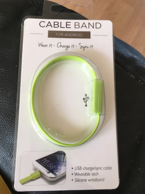 Android on the go charging band