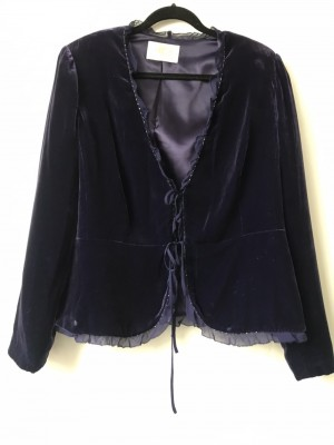 Gorgeous Silk Velvet Country Casual Blazer
