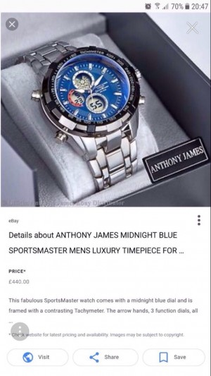Anthony James watch