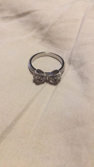 silver bow ring small size