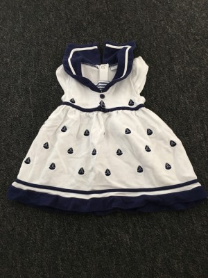 Girls sailor dress. Size 3-6 months