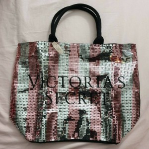 Victoria's Secret Large Sequin Tote Bag, Brand New With Tags, Pink