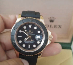 Rolex Everrose Yacht Master Watch