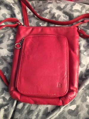 Red Handbag With Wallet Insert