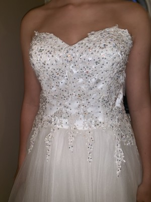 White prom/wedding dress