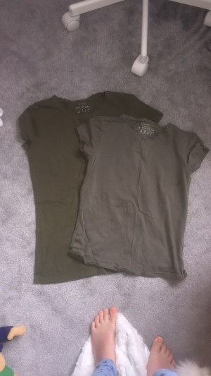 Two green t-shirts size 12 collection only