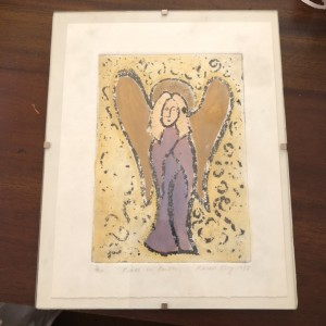 Peace on Earth Original Painting by Karen Eby 1997 Angel