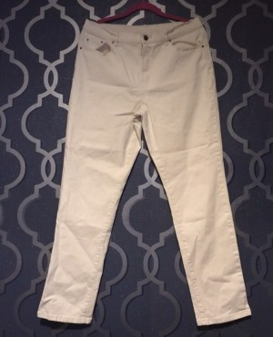 Shell/Cream Stretchy Jeans Size 14