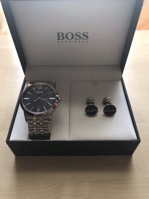 Men's Hugo Boss Watch with cufflinks gift set