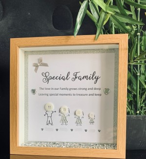 Special Family Button Personalised Frame