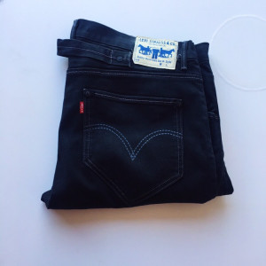 Men's Levi's 504 Black Denim Jeans Size 36 Good Condition
